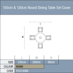 Bramblecrest 100cm Round Table Set Cover