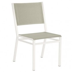 Barlow Tyrie Equinox Powder Coated Stacking Dining Chair – Arctic White Frame with Seagull Sling