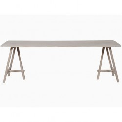 Neptune Hebden 150cm Trestle Table with Chalked Oak Frame and Top