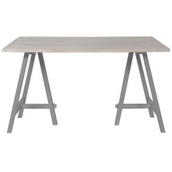 Neptune Hebden 150cm Trestle Table with Painted Frame and Chalked Oak Top