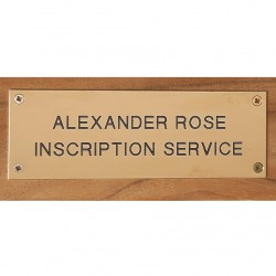 Alexander Rose Engraved Brass Plaque
