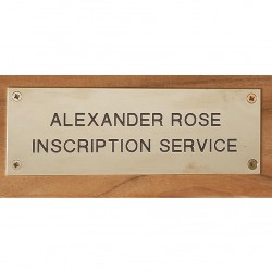Alexander Rose Engraved Stainless Steel Plaque