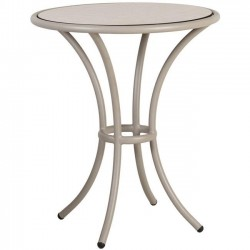 Alexander Rose Cordial Beige Bistro Table with Sand HPL Top