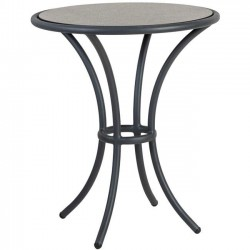 Alexander Rose Cordial Grey Bistro Table with Pebble HPL Top