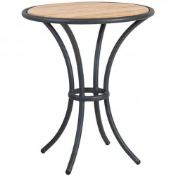 Alexander Rose Cordial Grey Bistro Table with Roble Top