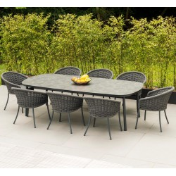 Alexander Rose Cordial Grey 8 Seater Dining Set