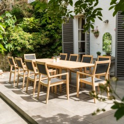 Alexander Rose Roble 10 Seater Dining Set
