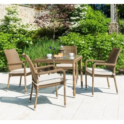 Alexander Rose San Marino 4 Seater Dining Set