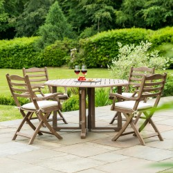 Alexander Rose Sherwood 4 Seater Dining Set