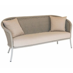 Alexander Rose Cordial Lounge Beige 3 Seat Sofa with Waterproof Cushions