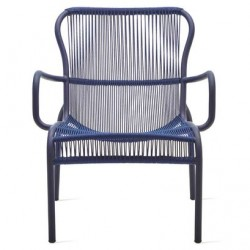 Vincent Sheppard Loop Lounge Chair Rope in Indigo