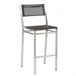 Barlow Tyrie Equinox High Dining Side Chair with Charcoal Sling