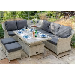 Bramblecrest Monterey Modular Casual Dining Set with Storage Sofa