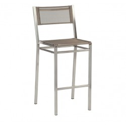 Barlow Tyrie Equinox High Dining Side Chair with Titanium Sling