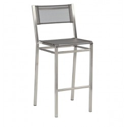 Barlow Tyrie Equinox High Dining Side Chair with Platinum SlingEquinox High Dining Side Chair with Platinum Sling