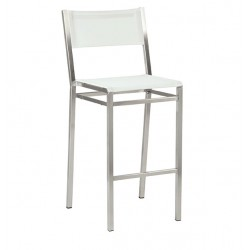 Barlow Tyrie Equinox High Dining Side Chair with Pearl Sling