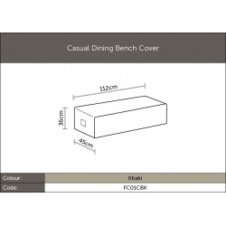 Bramblecrest FC01CBK Casual Dining Bench Cover