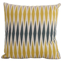Bramblecrest Harlequin Yellow Square Season-Proof Scatter Cushion