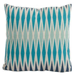 Bramblecrest Harlequin Blue Square Season-Proof Scatter Cushion