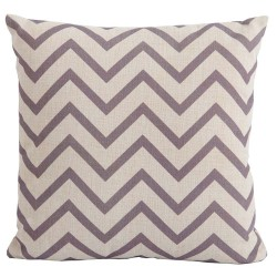 Bramblecrest Chevron Cocoa Square Season-Proof Scatter Cushion
