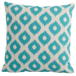 Bramblecrest Green Lattice Square Season-Proof Scatter Cushion