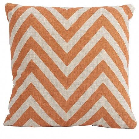 Bramblecrest Chevron Orange Square Season-Proof Scatter Cushion