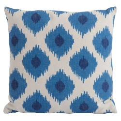 Bramblecrest Blue Lattice Square Season-Proof Scatter Cushion