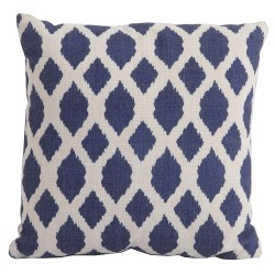 Bramblecrest Harlequin Blue Trellis Season-Proof Scatter Cushion
