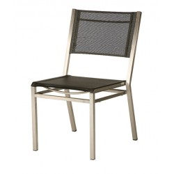 Barlow Tyrie Equinox Stacking Side Chair with Charcoal Sling
