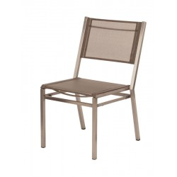 Barlow Tyrie Equinox Stacking Side Chair with Titanium Sling