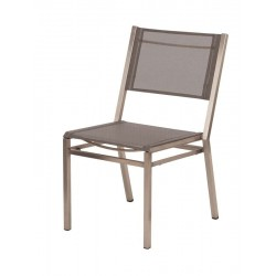 Barlow Tyrie Equinox Stacking Side Chair with Platinum Sling