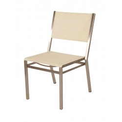 Barlow Tyrie Equinox Stacking Side Chair with Pearl Sling