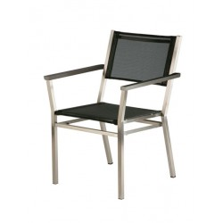 Barlow Tyrie Equinox Stacking Armchair - Graphite Armrests with Charcoal Sling