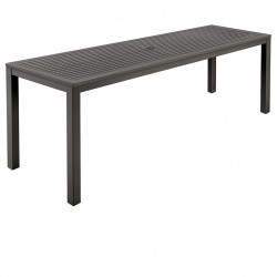 Barlow Tyrie Aura 200cm Narrow Rectangular Dining Table (Graphite)