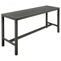 Barlow Tyrie Aura 200cm Rectangular High Dining Table (Graphite)