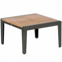 Barlow Tyrie Aura 60cm Square Low Table (Graphite)