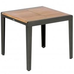 Barlow Tyrie Aura 60cm Square Side Table (Graphite)