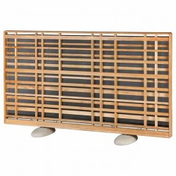 Barlow Tyrie Landscape Woodland Teak Screen with Pebble Feet
