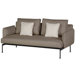 Barlow Tyrie Layout DS Two Seater Settee with Low Arms (Forge Grey)