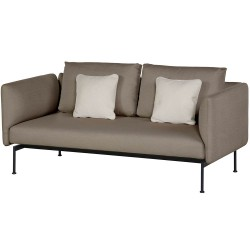 Barlow Tyrie Layout DS Two Seater Settee with High Arms (Forge Grey)