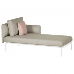 Barlow Tyrie Layout DS Single Chaise Lounge with Low Arms (Arctic White)