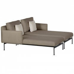 Barlow Tyrie Layout DS Double Chaise Lounge with Low Arms (Forge Grey)