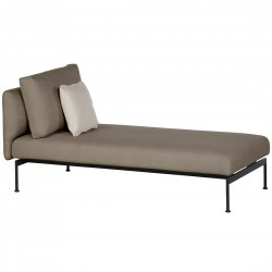 Barlow Tyrie Layout DS Single Lounger (Forge Grey)