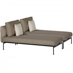 Barlow Tyrie Layout DS Double Lounger (Forge Grey)