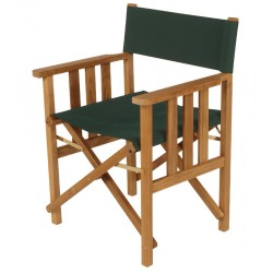 Barlow Tyrie Safari Folding Armchair in Forest Green