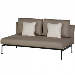 Barlow Tyrie Layout DS Double Bench (Forge Grey)