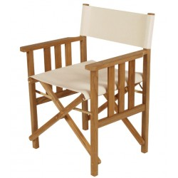 Barlow Tyrie Safari Folding Armchair in White Sand