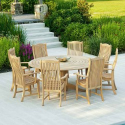 Alexander Rose Roble 8 Seater Dining Set