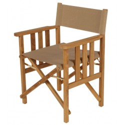Barlow Tyrie Safari Folding Armchair in Pepper