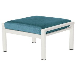 Barlow Tyrie Equinox Deep Seating Ottoman (Arctic White)